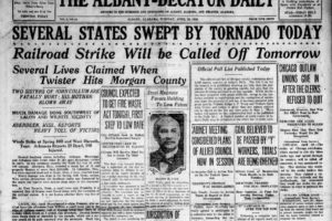 April 20, 1920: An Unsually Strong Morning Tornado Outbreak