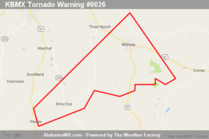 Tornado Warning Canceled For Parts Of Bullock County