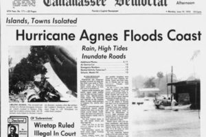 On This Date in 1972:  Hurricane Agnes Made Landfall in the Florida Panhandle