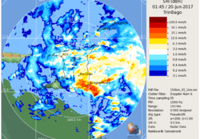 Tropical Storm Bret Moving Across Trinidad and Tobago