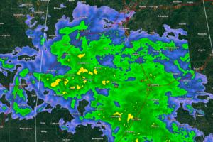 Cindy Weakens Slightly, Steady Rain Pushing Across Central Alabama