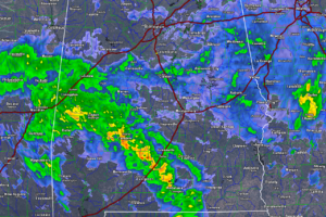 Feeder Band Lifting North With Heavy Rain, Some Strong Storms