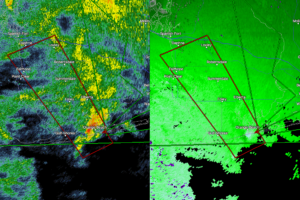 Possible Waterspout Coming Onshore At Orange Beach