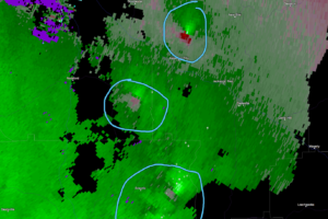 Multiple Rotations Over In Eastern Alabama