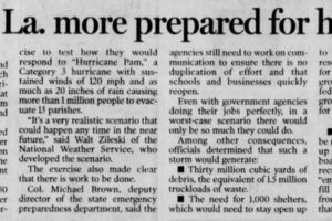 On This Date in 2004:  Officials Declared Louisiana Was More Prepared for the Big One