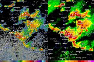 Storms Blowing Up Over Eastern Jefferson County