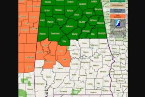Flash Flood Watches Issued For Parts of Central and North Alabama for Friday