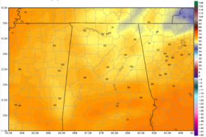Drier Air Overspreading North Alabama; 60s in Spots Tonight
