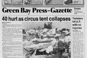 July 11, 1987 – Storm Collapses Tent At Circus Injuring 40