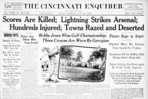 July 10, 1926 – Lightning Causes Killer Blasts