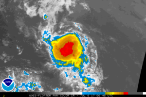 Depression Moving Faster Toward The West-Northwest Over The Tropical Atlantic