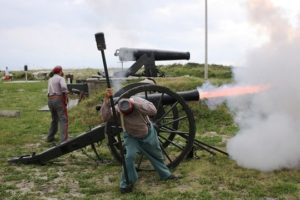Thunderous Echoes Of The Battle Of Mobile Bay Still Ring With Alabama Re-enactment