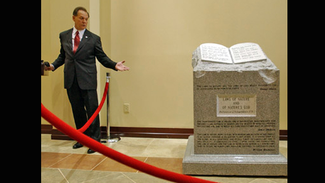 On This Day In Alabama History: Justices Voted To Remove Ten Commandments Monument