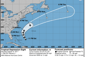 Tropical Depression Number Eight Forms