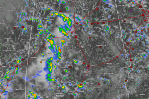 Showers and Storms Blossoming Across West Alabama