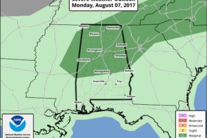An Unstable Airmass At Midday, Marginal Risk For Severe Storms Today