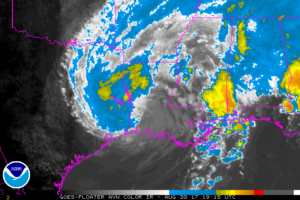 Flooding Rains Continue Over Extreme Eastern Texas And Western Louisiana