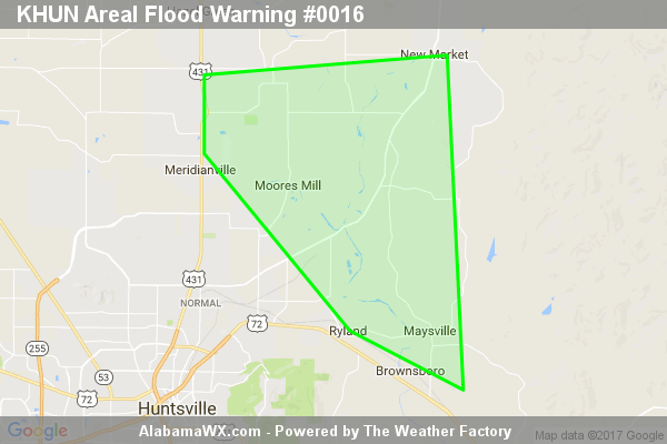 Areal Flood Warning Continues For Parts Of Madison County Until 10:30PM