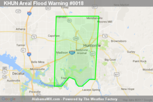 Areal Flood Warning Issued For Parts Of Madison County Until 2:30AM