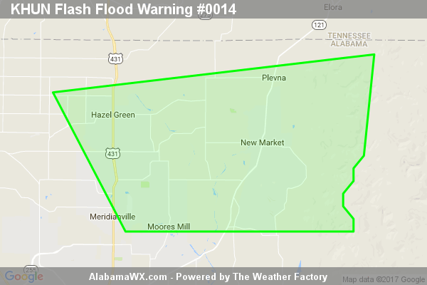 Flash Flood Warning Issued For Parts Of Madison County Until 9:30AM