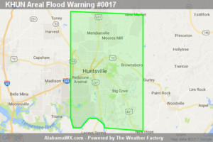Areal Flood Warning Issued For Parts Of Madison County Until 3:15AM