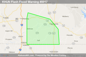 Flash Flood Warning Expired For Parts Of Lincoln (TN) County