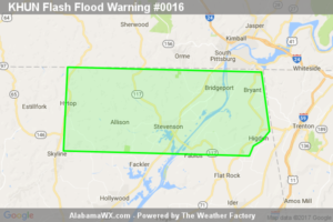 Flash Flood Warning Issued For Parts Of Jackson County Until 3:30AM