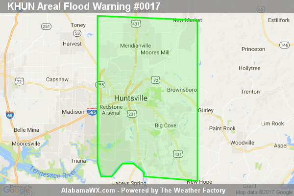Areal Flood Warning Expired For Parts Of Madison County