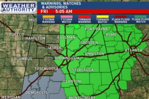 Flash Flood Watch For East Alabama