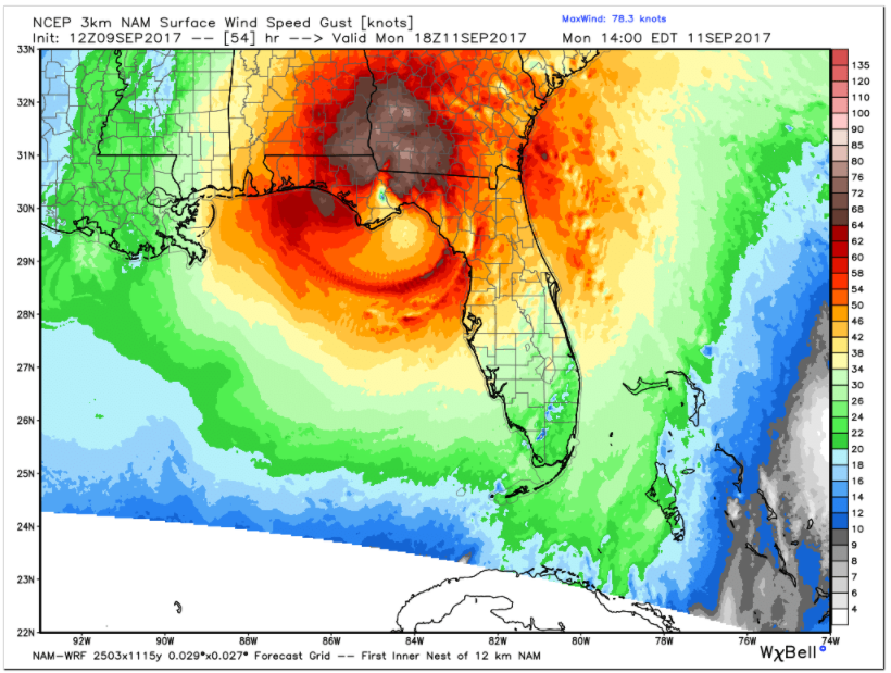Winds Would Be Strong Over Southeast Alabama The Florida Panhandle And Southern Georgia By Then Reaching 40 50 Mph In Places Like Tallahasse Dothan