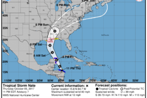 Tropical Storm, Storm Surge Watches Issued for the Gulf Coast