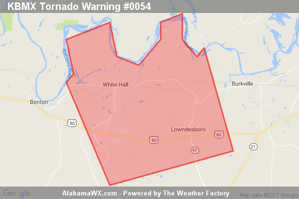 Tornado Warning Continues For Parts Of Lowndes County Until 7:30PM