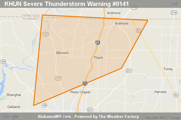 Severe Thunderstorm Warning Expired For Parts Of Limestone County