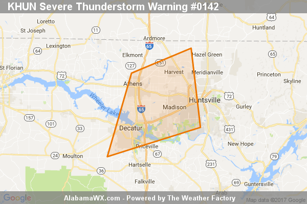 Severe Thunderstorm Warning Canceled For Parts Of Limestone, Madison, And Morgan Counties