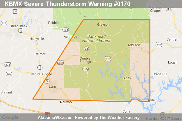 Severe Thunderstorm Warning Issued For Parts Of Winston County Until 6:15PM