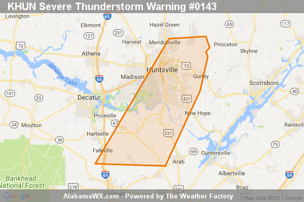 Severe Thunderstorm Warning Expired For Parts Of Madison, Marshall, And Morgan Counties