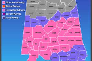 Winter Storm Warning & Winter Weather Advisory Extended In Time and Area