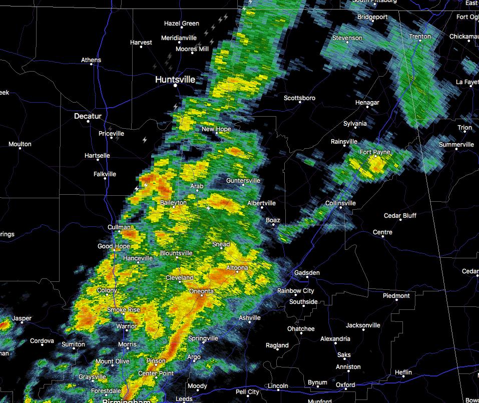 Stronger Storms Affecting Jackson, Marshall, & Dekalb