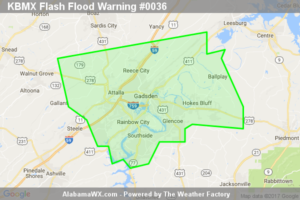 Flash Flood Warning Issued For Parts Of Etowah County Until 11:00AM