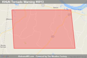 Tornado Warning Expired For Parts Of Colbert County