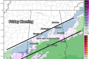 Cold Air Settles In Tonight; A Few Snow Flakes Friday Morning?
