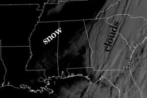 Satellite View of Friday's Snow