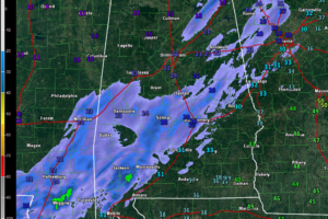 Late Night Radar/Report Roundup: Roads Hazardous Across Much of the Area