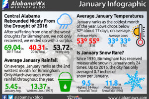 Happy New Year! Birmingham's January Weather Infographic