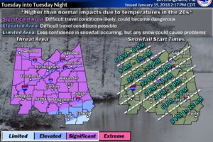 Light Snow/Icy Travel Tomorrow
