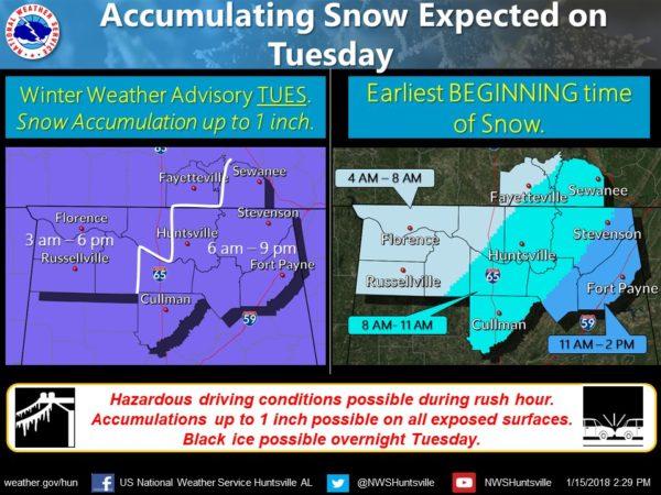James Spann: Light snow, icy travel in Alabama Tuesday