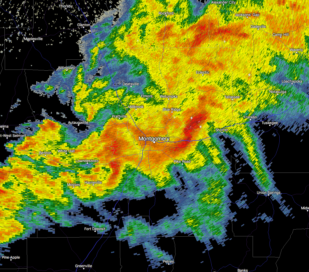 Strong Storms Affecting Parts of Elmore, Macon, & Montgomery