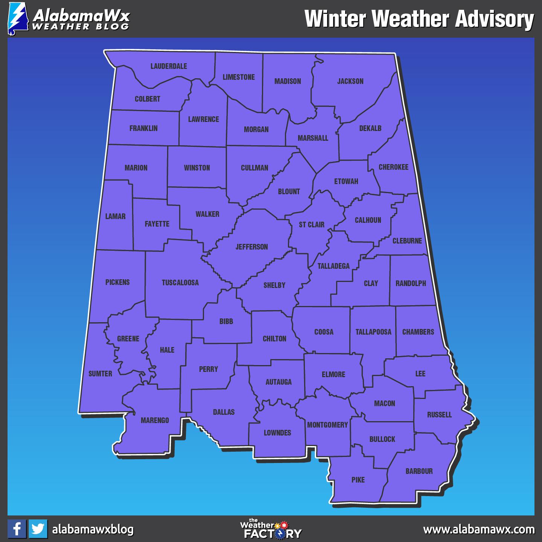 Winter Storm Inga Expected To Affect All Of Alabama Alabama Newscenter