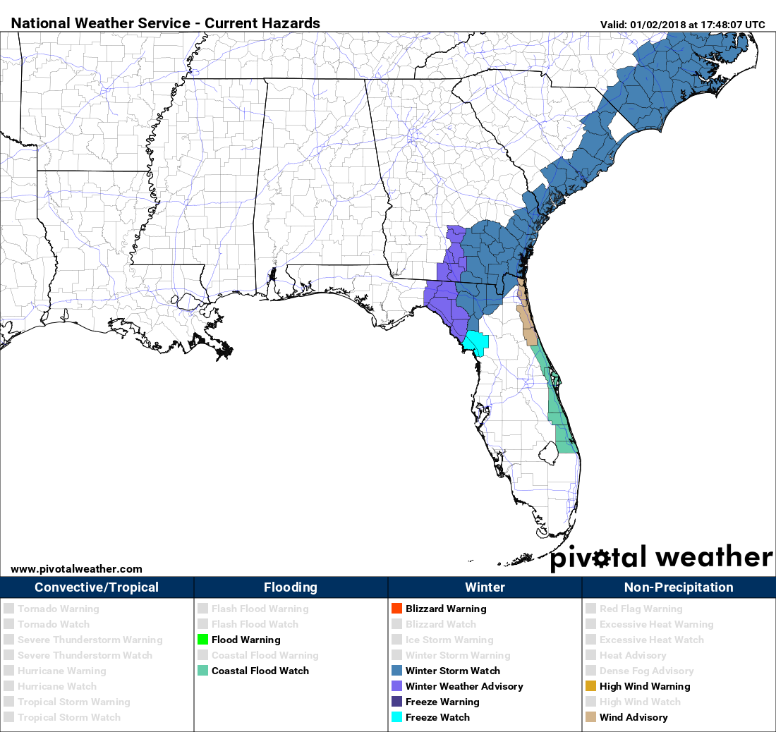 We\'re Cold at Midday Today, But Parts of Florida & Georgia May Have ...