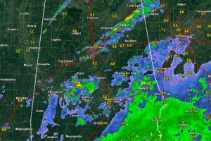 Cold Front Pushing Across Northwest Alabama at this Hour